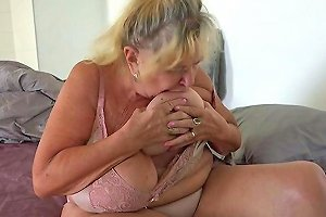 Oldnanny Teen Fucked Old Busty Mom With Strap